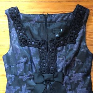 Anna Sui, Gingham dress, black/purple, XS
